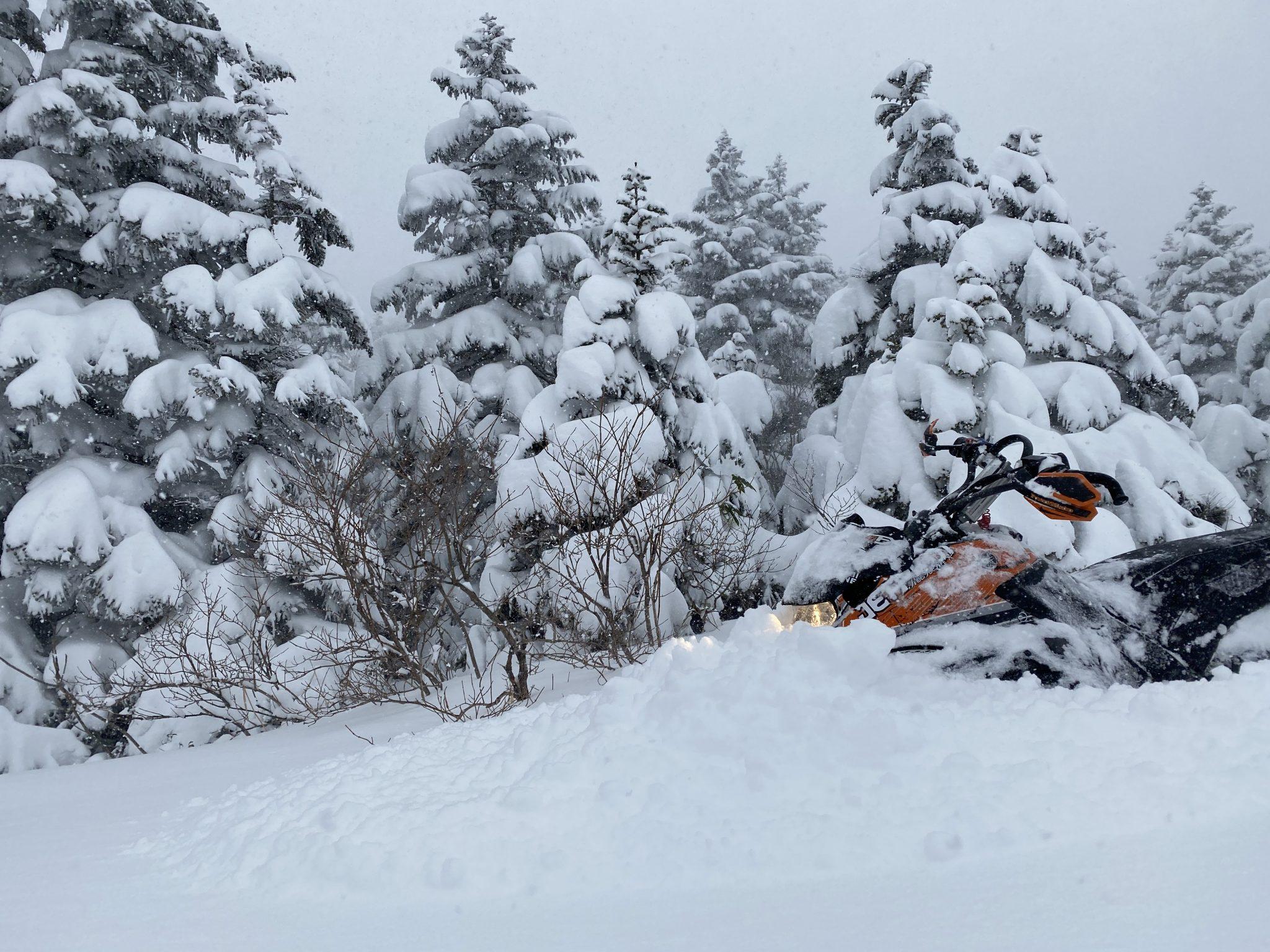 スノーモービルツアー コース調査